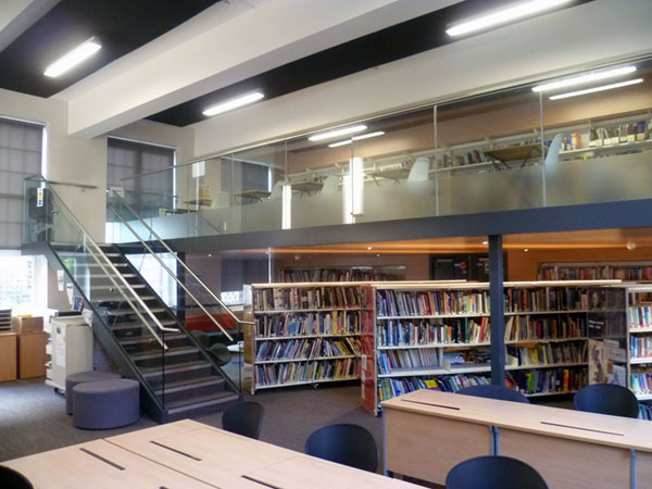 Edmonton county school  library refurbishment