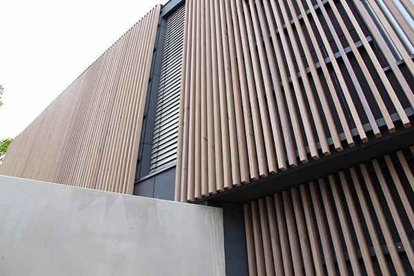 exterior timber strip concrete