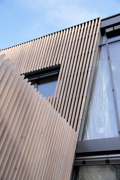 hardcastle architects timber strip cladding