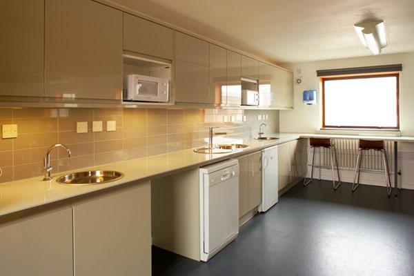 school refurbishment education staffroom kitchenette