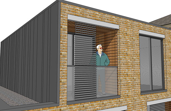 residential architect hackney terrace louvre screen