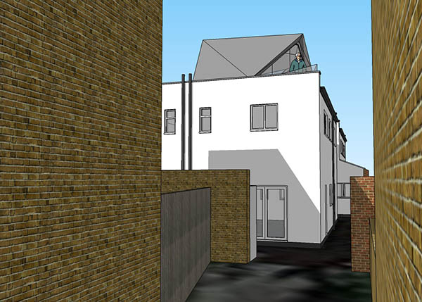 Contemporary roof top extension