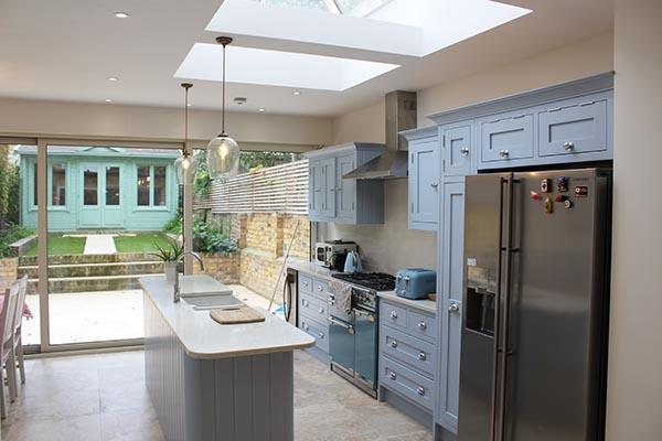 Kitchen extension roof window daylight garden