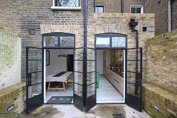 kitchen side infill extension